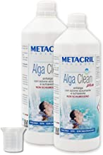 Alga Clean Plus 2 litros (1 + 1) + dosificador. Metacril antialgas no espumante y aclarante para piscina y spa hidromasaje rígidos o hinchables (acuzzi, teuco, atenuación, etc.).