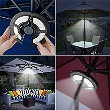Jhua Patio Umbrella Light Battery Operated USB LED Umbrella Light 36 LED 2 Lighting Modes Eye-Caring Adjustable Clamp Cordless Umbrella Pole Light for Courtyard Parasol Beach Umbrella Camping Tent