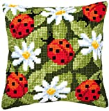 Vervaco Cross Stitch Cushion Kit Ladybirds, 1200C