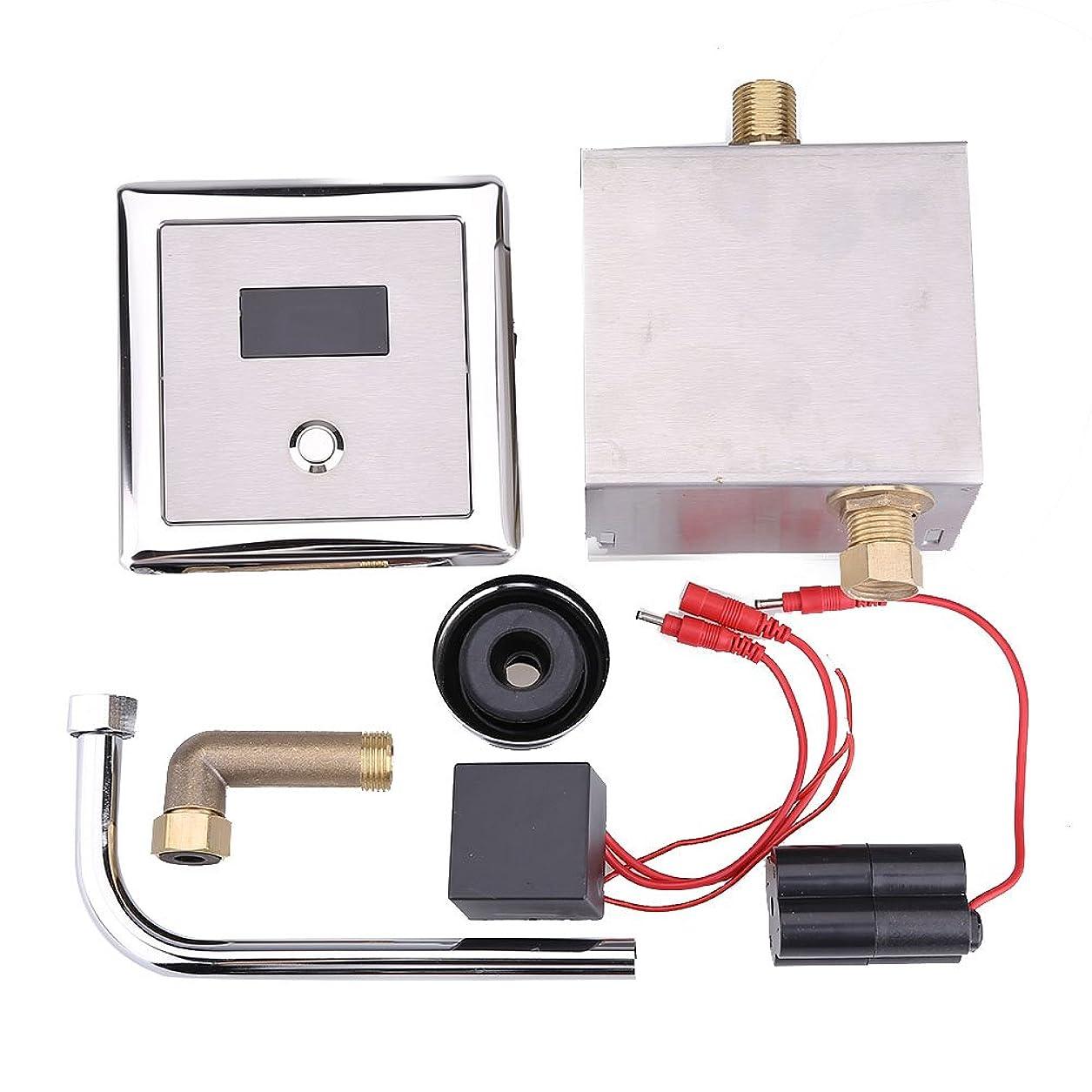 練習説教温室タッチレストイレフラッシュキット、壁取り付け式自動モーションセンサートイレフラッシュキット、調整可能なセンサーの範囲とフラッシュ時間、ホテル/レストラン/ショッピングモール用