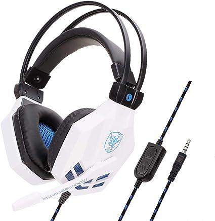 Chshe - Microfono Hi-Fi Deep Bass Headphones_Chshe???? Soyto 3.5Mm Gaming Headset Cuffie Con Microfono Per Ps4/Xbox One/Iphone/Ipad, Ipx7 Impermeabile Wireless Auricolari Cuffie Sportive (Bianco) - Trova i prezzi più bassi