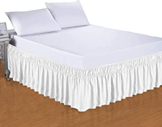 Camp County Beyond Bed Skirt Wrap Around Three Sided Dust Ruffle 18 Inch Depth King Easy Fit Wrinkle Resistance Wrap Aroun...