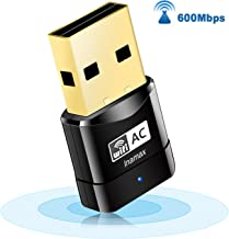 USB WiFi Adapter, AC600 Mini Wireless Network WiFi Dongle for PC/Desktop/Laptop, Dual Band (2.4G/150Mbps+5G/433Mbps) 802.11 ac, Support Windows 10/8/8.1/7/Vista/XP, Mac OS 10.6-10.14