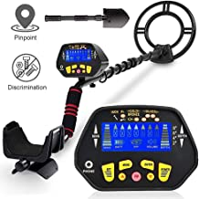 RM RICOMAX Metal Detector for Adults - High-Accuracy Metal Detector Waterproof LCD Display [Pinpoint Function & Discrimination Mode & Distinctive Audio Prompt]10 Inch Waterproof Search Coil Underwater