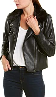 1. State Womens Fall Faux Leather Motorcycle Jacket