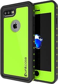 iPhone 8 Plus Waterproof Case, Punkcase [StudStar Series] [Slim Fit] [IP68 Certified] [Shockproof] [Dirtproof] [Snowproof] Universal Armor Cover for Apple iPhone 7 Plus & 8+ [Light Green]