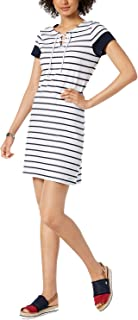 Tommy Hilfiger Striped Lace-Up Dress