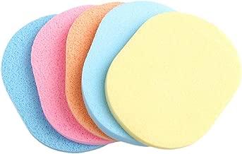 BeautyQua Set Of 5 Pcs Face Cleansing Sponge Puff Makeup Washing Pad Deep Cleansing & Facial Sponge
