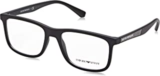 Óculos de Grau Emporio Armani EA3112 5042 Preto Fosco Lentes Tam 54