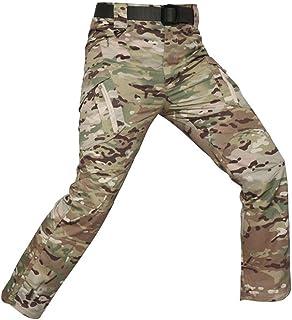 JUNSHIFU Hombres Pantalones de Combate tácticos Militares Deporte al Aire Libre Senderismo Caza Pantalones Pantalones del