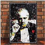 NRRTBWDHL Gemälde Kunst Retro Marlon Brando Der Pate