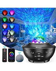 2021 Galaxy Projector 4 in 1 Smart Star Projector Sky Lite with Alexa, App Control, Google Assistant for Baby Kids Bedroom/Game Rooms/Night Light Ambiance with Bluetooth Music Speaker