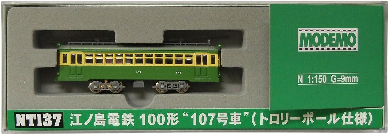 Enoshima Electric Railway (Enoden) Type 100 [No.107th Car] (Trolley Pole Version) (Model Train)