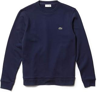 Lacoste Men's Crew Neck Fleece Sweatshirt Navy