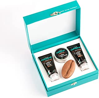 mCaffeine Strong Brew - Espresso Gift Kit | Energizes, Deeply Exfoliates & Hydrates the Skin | Face Wash, Face Scrub, Face...