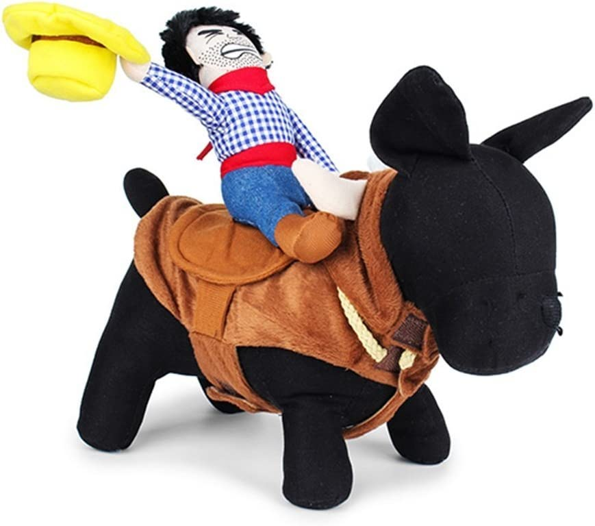 LUCKSTAR Funny Pet Costume - Supplies Deluxe H Novelty Cowboy Free shipping / New Rider
