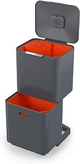 Joseph Joseph Totem Max - Unidad de Separación de Residuos y Reciclaje con una Capacidad de 60 litros - Grafito