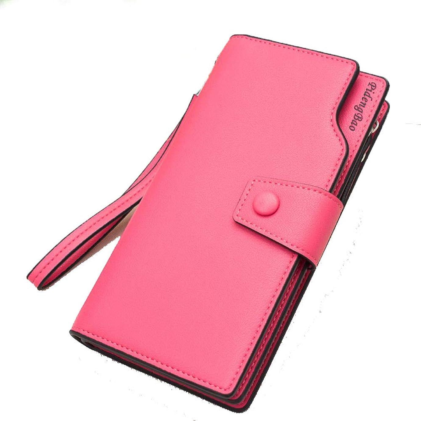 意図的要求する発音クラッチハンドバッグレディースロングバックル財布韓国語版マルチカード大容量ジッパーカードパッケージ