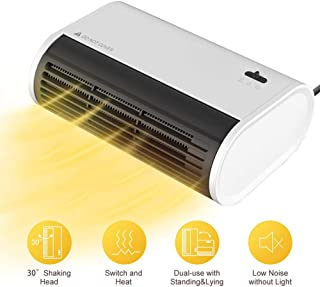 Mini Portátil Calefactor De Espacios, 500W, 25 ° Oscilación, Cerámica PTC Calentador De Ventilador Personal, Protección contra El Sobrecalentamiento, para El Hogar, Oficina