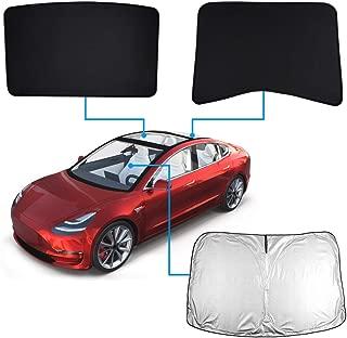 Mixsuper Model3 2020 Upgrade Windshield Sunshade &SunroofShade UV Rays Protection Window Shade for Tesla Model 3