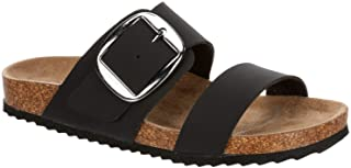 Candace - Womens Faux Leather Slip On Buckle Strap Cork...