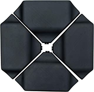 Abba Patio Cantilever Offset Umbrella Base Plate Set Heavy Duty Weights, 260lbs, Pack of 4