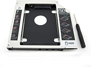 WestPort 薄型光学ドライブベイ SATA to SATA 3.0 汎用 光学ドライブをHDDやSSDに置き換えるためのキット セカンドHDDアダプター 2.5インチハードディスクマウンタ SATA接続 9.5mm厚のSlimline S...
