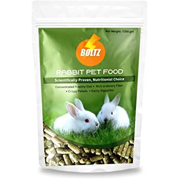 Boltz Premium Rabbit Food,Nutritionist Choice (ISO 9001 Certified)-1200 gm