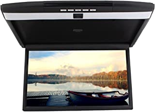 17 inch Widescreen LCD Roof Mount Monitor High Resolution Display Overhead Monitor Car Flip Drop Down Overhead Support HDM...