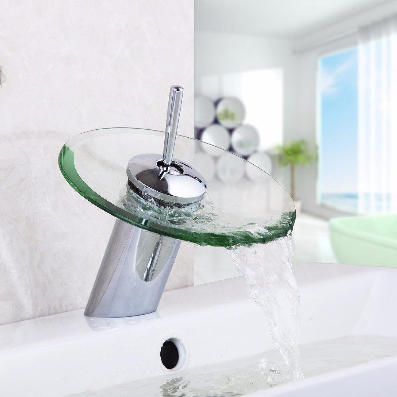 Tourmeler Bathroom Glass Faucet Chrome Finish Basin Faucet Mixer Tap Waterfall Bathroom Sink Mixer Tap Torneira,