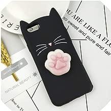 Case for iPhone 4 4S SE 5 5S 5C 6 6S 7 8 Plus X XR XS Max Squishy Cat Cover Mobile Phone Bags,HuXu Clear Cat,for iPhone 7,HuXuBlack,foriPhone5S,HuXuBlackFoot,foriPhone66S