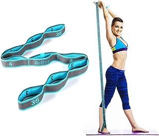 DeHub Bandas Elasticas Fitness, Banda de Estiramiento para NiÑ s y Adultos, Banda Elástica de Resistencia para Pilates,Yoga,Fitness,Gimnasia,Crossfit y Danza.