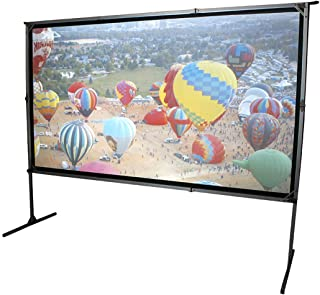 Elite Screens OMS120H2-DUAL Mobile Tuin Canvas Yard Master 2 Dual 266 Outdoor Projection Screen zwart