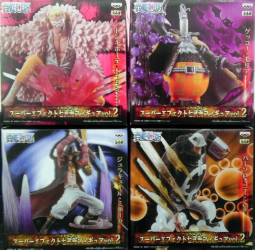 One Piece Super Effect Shichibukai Figure vol.2 all four sets (japan import)