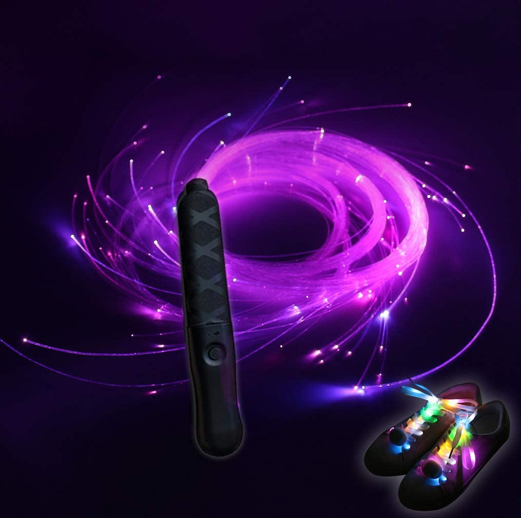 blueple Rechargeable Fiber Sale special price Optic Dance Max 74% OFF Multi-Color led Whip