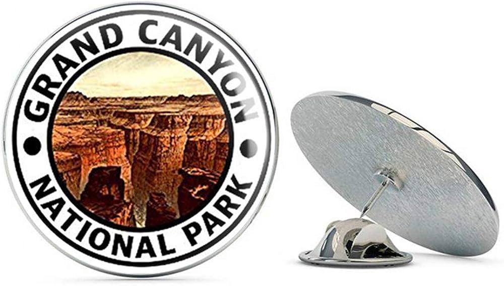 NYC Jewelers Round Grand Canyon National Park (Hike Travel rv az Arizona) Metal 0.75