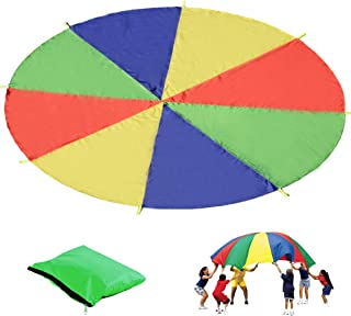 featured product Kids Play Parachute, Cooperation Game Funchute Canopy with 8 Handles, 2FT for 3-4 Kids Play, Plus Carry Case