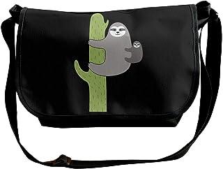 BUGKHD Cactus Sloth bolsa bandolera de hombro para hombres y mujeres, bolsa de mensajero de moda para ir de compras, estud...