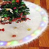 """🎄【Hochwertiges Material】: Größe: 35,4 """"/ 90cm Durchmesser. Der luxuriöse Weihnachtsbaumrock besteht aus dichtem, strapazierfähigem Kunstfell und Vliesstoff. Sie können benutze es Jahr für Jahr. Die ausgeklügelte Plüschtechnologie macht es sauberer un..."""