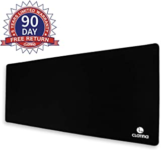 Extended Gaming Mouse Pad with Stitched Edges Non Slip Rubber and Water Resistant Extra Large Computer Table Mat for Home Office Black