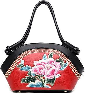 Women's Shoulder Bag Shoulder Strap Tote Bag Travel Leather Purse Fashion Bag Bag (Color : Red, Size : One size)
