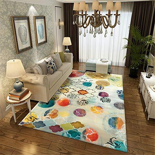 Kunsen Alfombra Antideslizante alfombras Salon Alfombra de Color de habitación para niños Rectangular Moderno Antideslizante Suave alfombras oficinas 160X200CM 5ft 3' X6ft 6.7'
