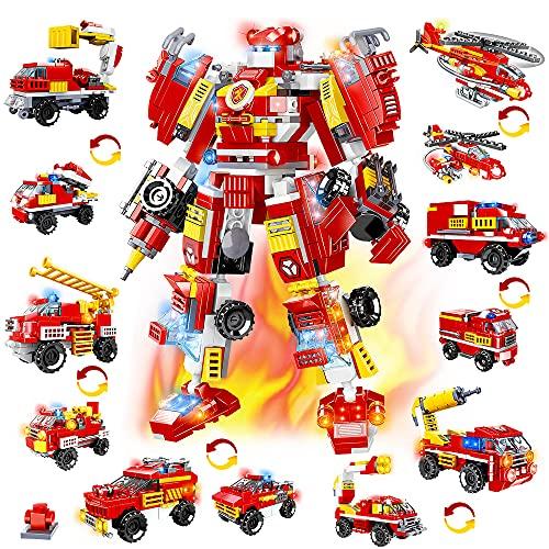 HOGOKIDS Fire Robot Construction Set - 591 PCS STEM Building Learning Toy...
