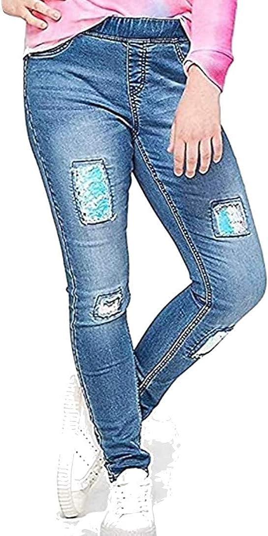 Justice Portland Mall Flip Max 48% OFF Sequin Pull On Jean Plus Medium wash 16 Legging
