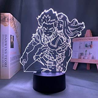 BTEVX Lámpara 3d Anime My Hero Academia Izuku Midoriya Deku Lámpara para Regalo de cumpleaños Izuku Midoriya Luz de noche LED Eri