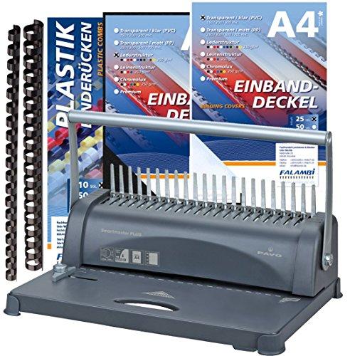 Bindegerät Pavo Smartmaster PLUS inkl. Zubehör 155 Teile, stanzt bis 12 Blatt - bindet bis 350 Blatt