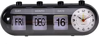 Micro Trader Black Manual Digital Day Date Week Calendar Desk Alarm Quartz Alarm Clock Desk Alarm Clock