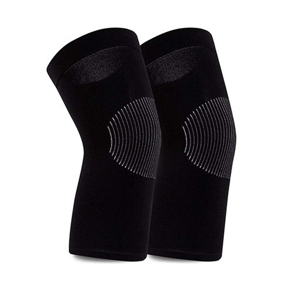 電話をかけるぐるぐる大陸ナイロン膝編みの極薄膝パッド-ブラック