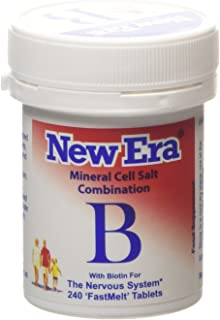 New Era COMBINATION B Mineral Cell Salts 240 Tablets (TISSUE SALTS) NERVOUS SYSTEM