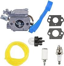 Hilom 545081811 Carburetor for Husqvarna 125B 125BX 125BVX Leaf Blower Replaces Zama C1Q-W37 Carb w/Fuel Line Fuel Filter Primer Bulb
